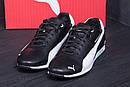 Мужские кожаные кроссовки  Puma BMW MotorSport Black (реплика), фото 9