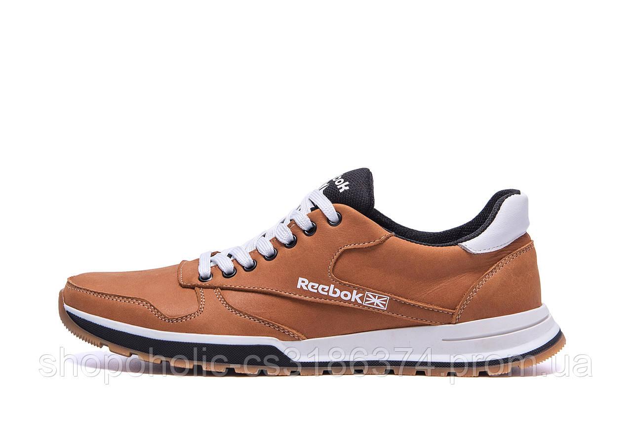 Мужские кожаные кроссовки  Reebok Classic Leather Trail Ginger Colour (реплика)