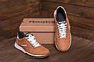 Мужские кожаные кроссовки  Reebok Classic Leather Trail Ginger Colour (реплика), фото 8