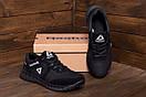 Мужские кожаные кроссовки  Reebok SPRINT TR  Black (реплика), фото 9