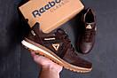 Мужские кожаные кроссовки  Reebok SPRINT TR Brown (реплика), фото 9