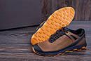 Мужские кожаные кроссовки  Е-series Natural Motion olive (реплика), фото 6