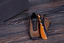 Мужские кожаные кроссовки  Е-series Natural Motion olive (реплика), фото 9