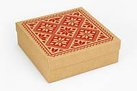 "Коробка ""Бавария"" М0033-о17 крафт с шелком, размер: 180*180* 60 мм, фото 1"
