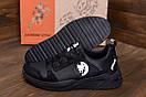 Мужские кожаные кроссовки Pitbull Black, фото 8