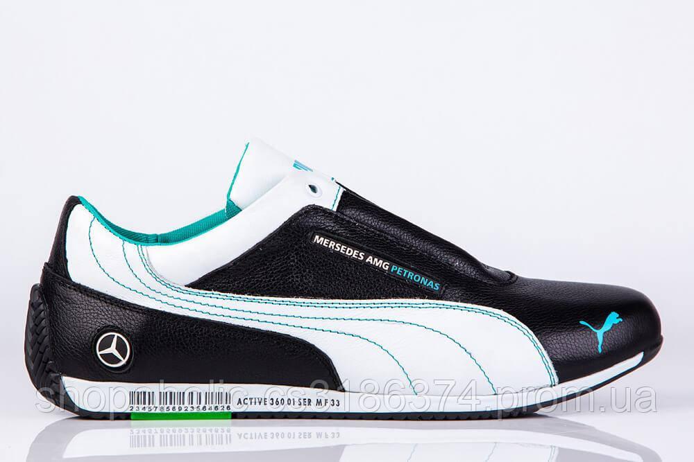 Мужские кожаные кроссовки Puma Mersedes Amg Petronas (реплика)