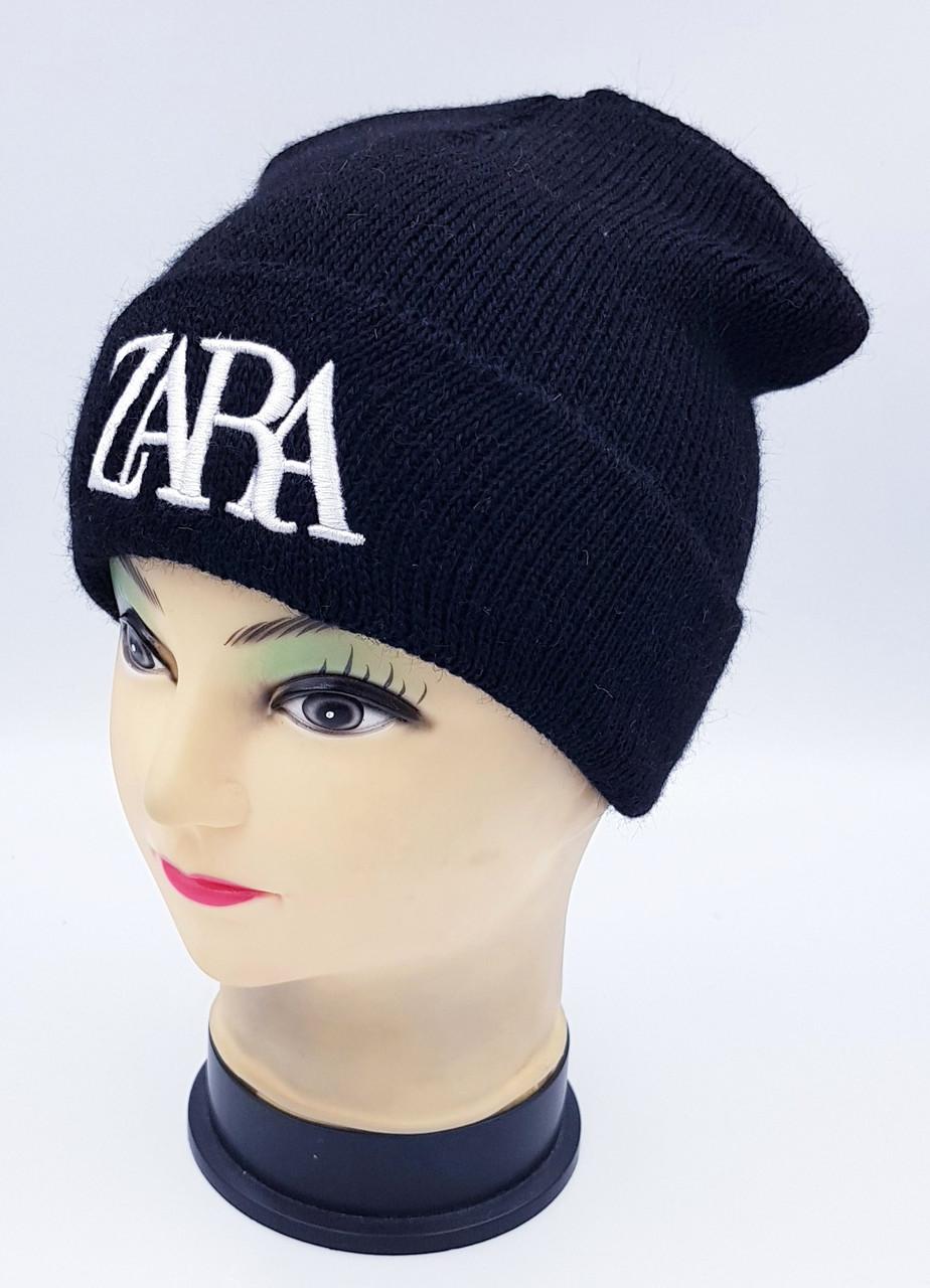 Детская вязаная шапка Klaus Объемная вышивка 53-55см (398-ВА)