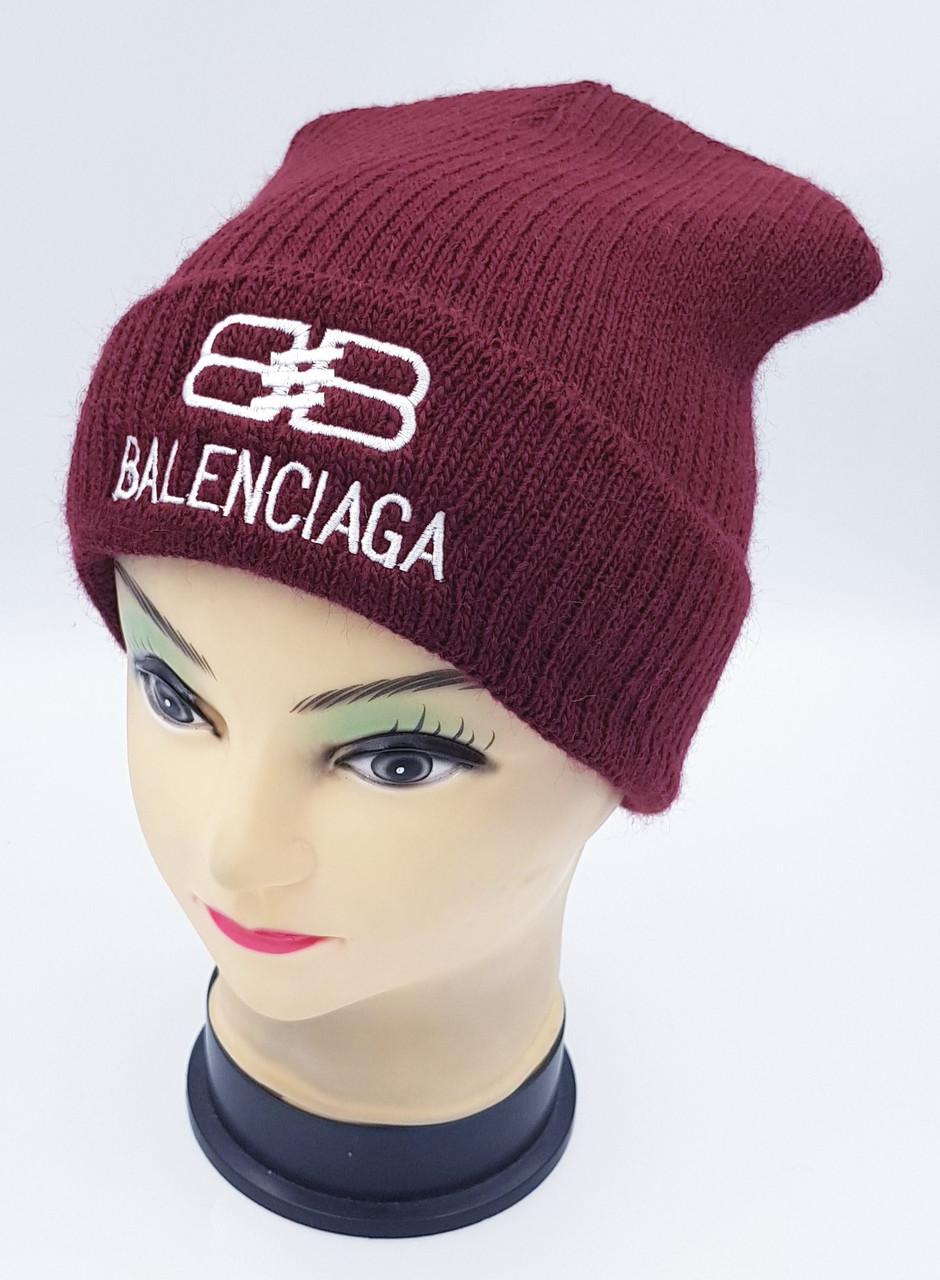 Детская вязаная шапка Klaus Объемная вышивка 53-55см (403-ВА)
