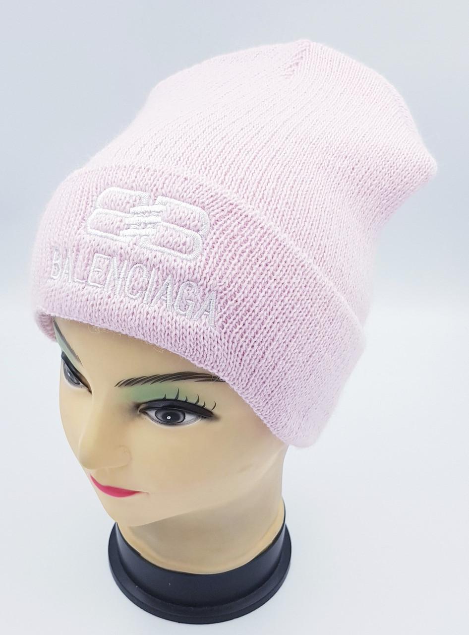 Детская вязаная шапка Klaus Объемная вышивка 53-55см (406-ВА)