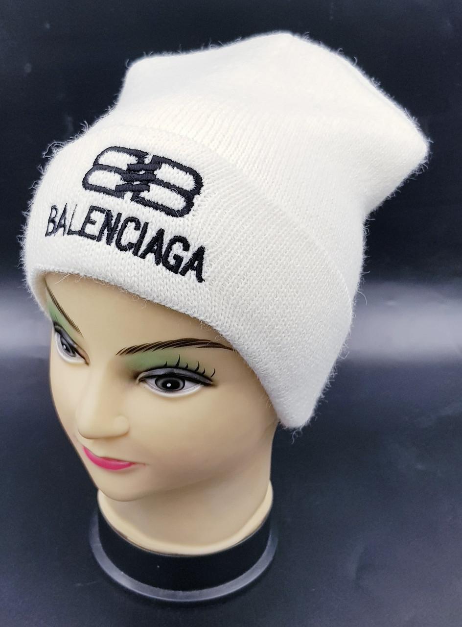 Детская вязаная шапка Klaus Объемная вышивка 53-55см (407-ВА)