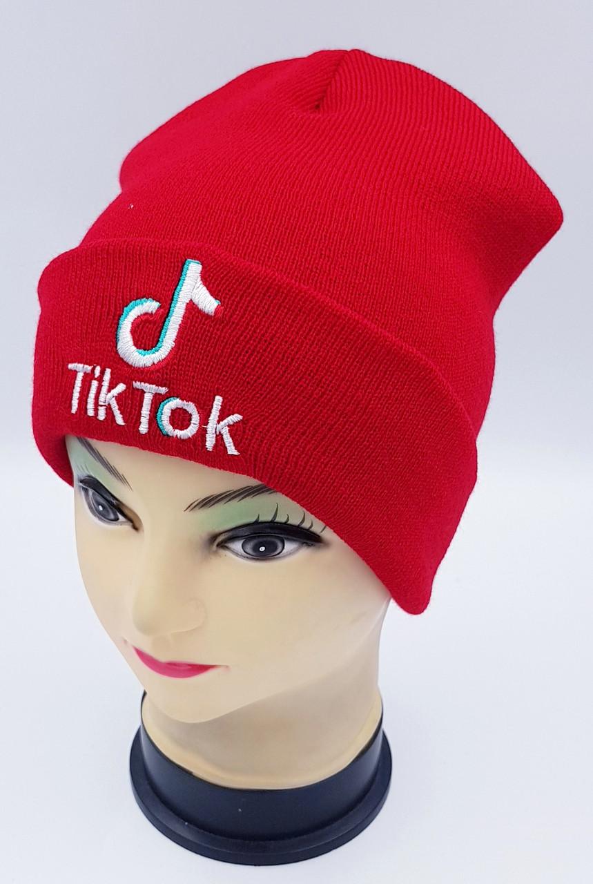 Детская вязаная шапка Klaus Объемная вышивка 53-55см (409-ВА)