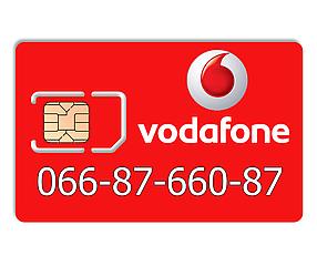 Красивый номер Vodafone 066-87-660-87