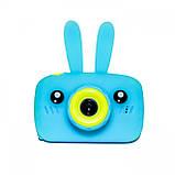 Противоударный цифровой детский фотоаппарат игрушка, видеокамера зайчик Smart Kids Camera 3 Series(игрушки), фото 5