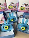 Противоударный цифровой детский фотоаппарат игрушка, видеокамера зайчик Smart Kids Camera 3 Series(игрушки), фото 9