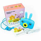 Противоударный цифровой детский фотоаппарат игрушка, видеокамера зайчик Smart Kids Camera 3 Series(игрушки), фото 7