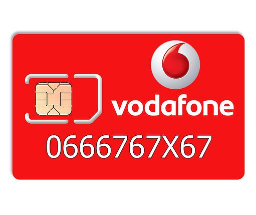 Красивый номер Vodafone 0666767X67, фото 2