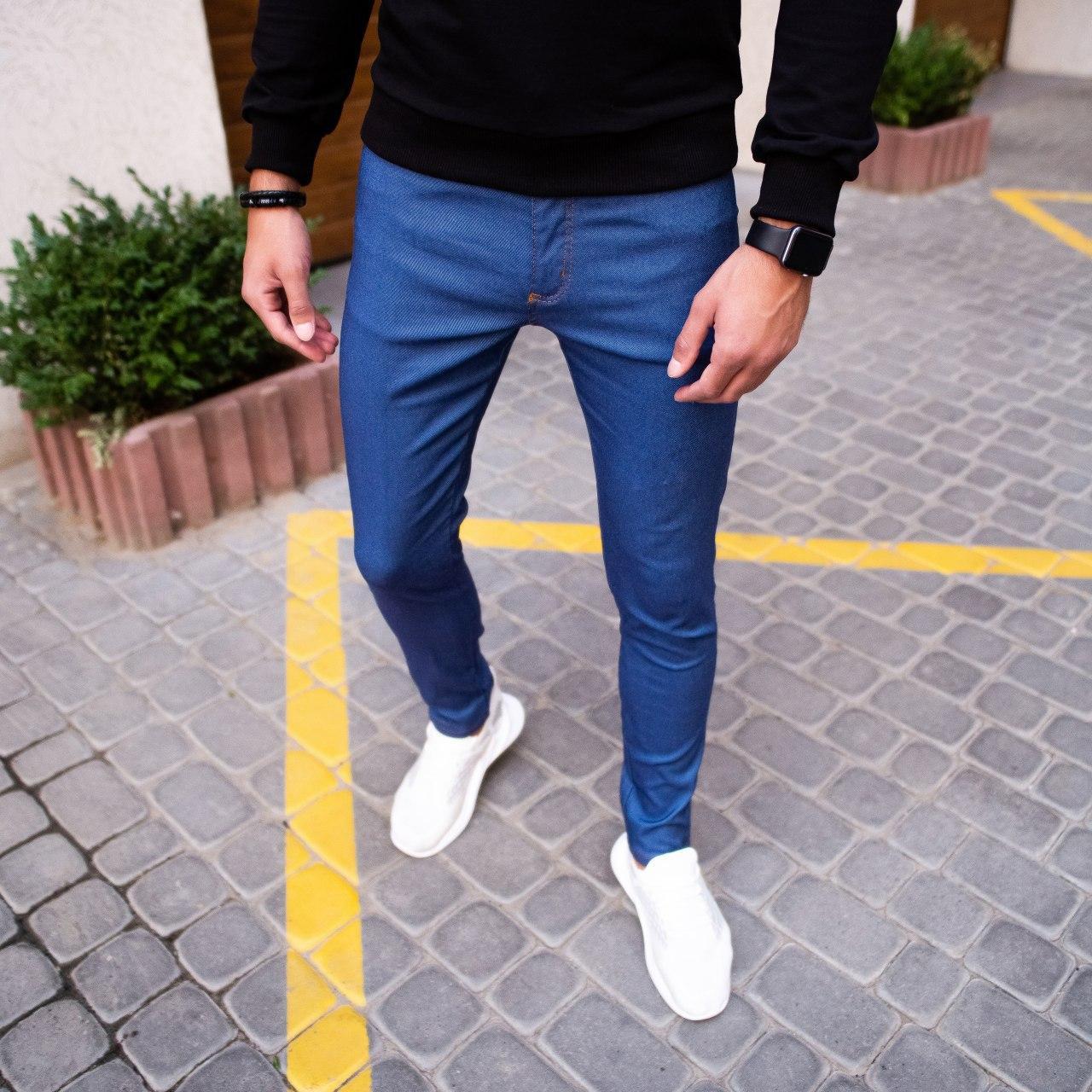 Чоловічі джинси Poleteli Pobedov (ясно-сині)