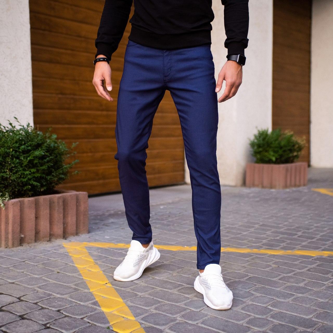 Мужские джинсы Poleteli Pobedov (темно-синие)