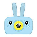 Протиударний цифровий дитячий фотоапарат іграшка, відеокамера зайчик Smart Kids Camera 3 Series(іграшки), фото 4