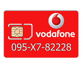 Красивий номер Vodafone 095-X7-82228