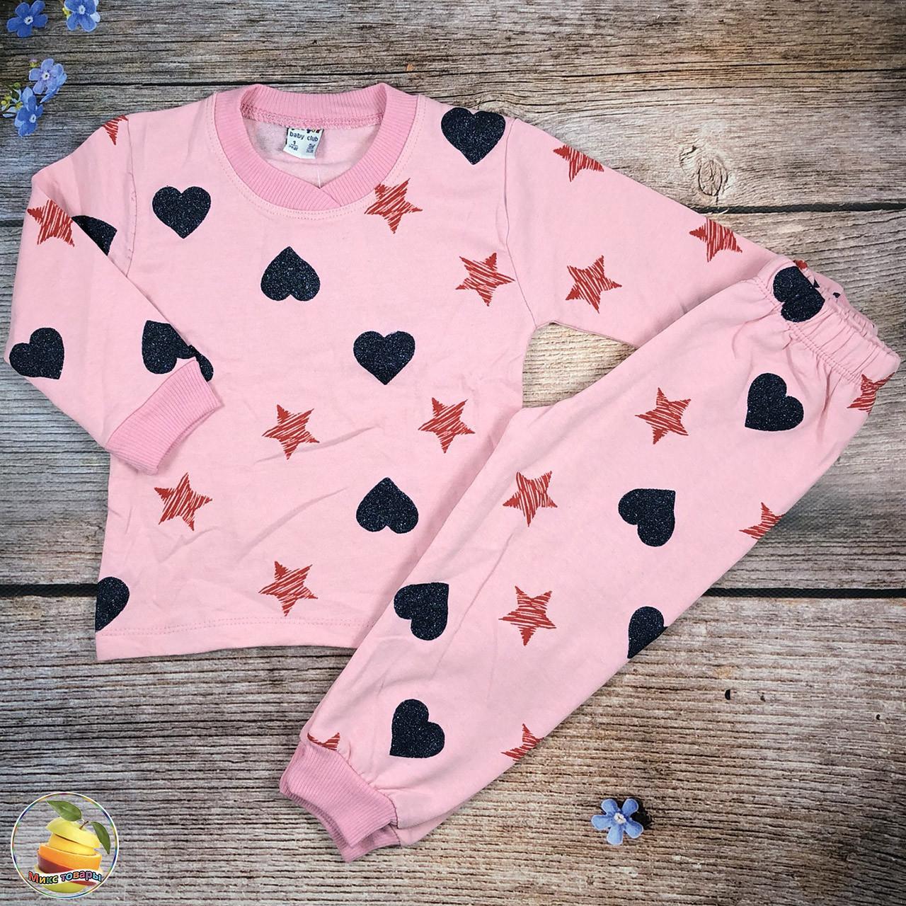"Детская байковая пижама ""Розовая"" Размеры: 1,2,3,4 года (21085-3)"