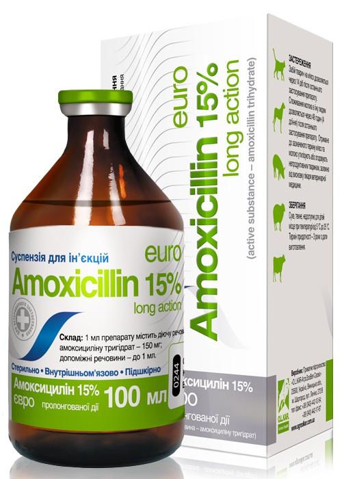 Амоксициллин 15% O.L.KAR 10 мл ветеринарный антибиотик длительного действия для поросят и КРС