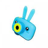 Протиударний цифровий дитячий фотоапарат іграшка, відеокамера зайчик Smart Kids Camera 3 Series(іграшки), фото 10