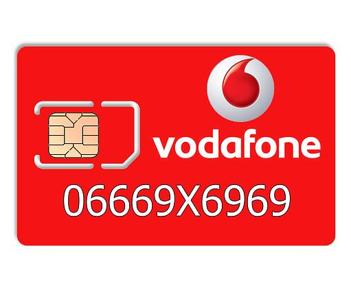 Красивый номер Vodafone 06669X6969, фото 2