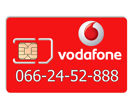 Красивий номер Vodafone 066-24-52-888, фото 2