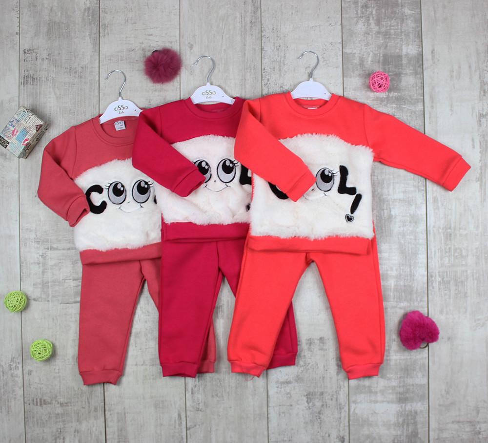 Дитячі костюми тепленькі для дівчаток OSSO 20578