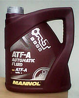 Минеральное трансмиссионное масло Mannol ATF-A Automatic Fluid 4L