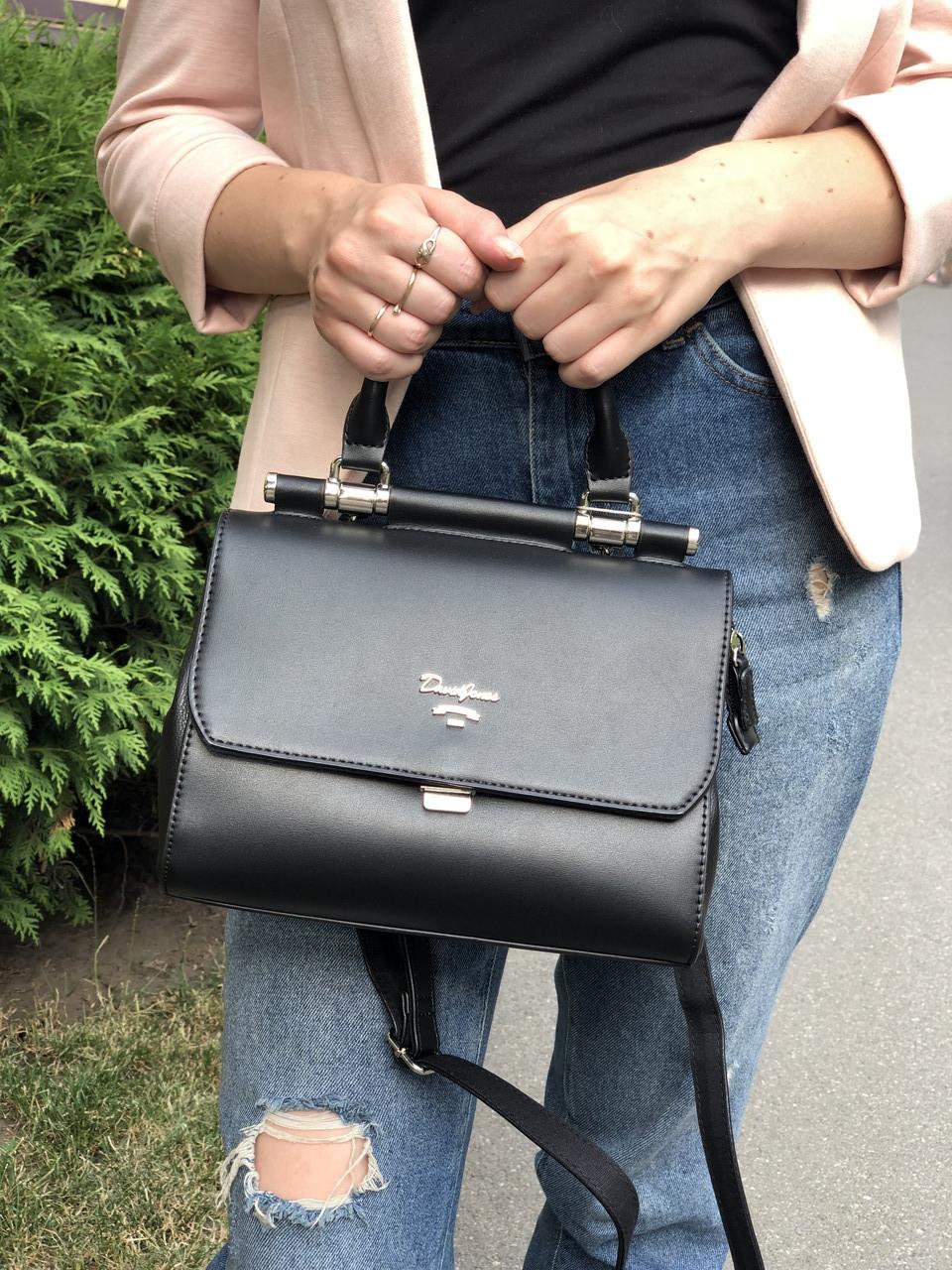 Женская сумка кросс-боди David Jones CM5954-1 Черная