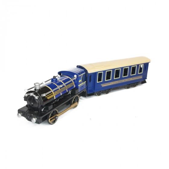 Модель - Паравоз с вагоном (свет, звук) Technopark CT10-038