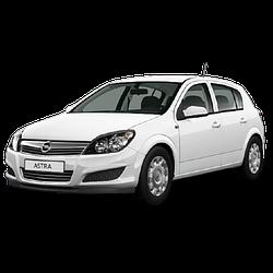 Дефлекторы на боковые стекла (Ветровики) для Opel (Опель) Astra H 2004-2010