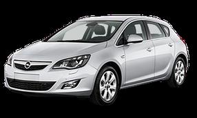 Дефлекторы на боковые стекла (Ветровики) для Opel (Опель) Astra J 2009-2015