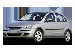Дефлекторы на боковые стекла (Ветровики) для Opel (Опель) Corsa C 2000-2006