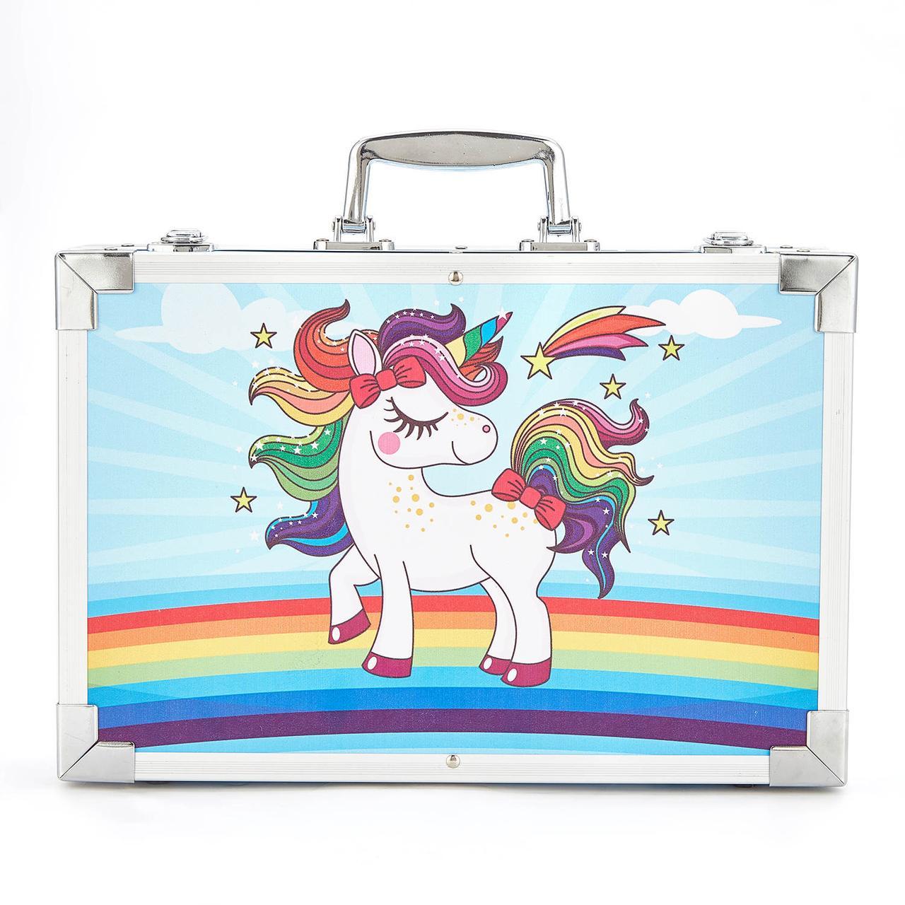 Подарочный набор для рисования в чемодане Amazecat, модель blue Unicorn