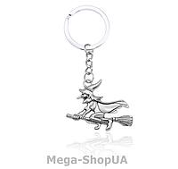 Брелок металлический для ключей Witch on a broom, фото 1