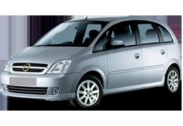 Дефлекторы на боковые стекла (Ветровики) для Opel (Опель) Meriva A 2002-2010