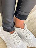 Утепленные черные женские брюки-лосины 31-6560, фото 6