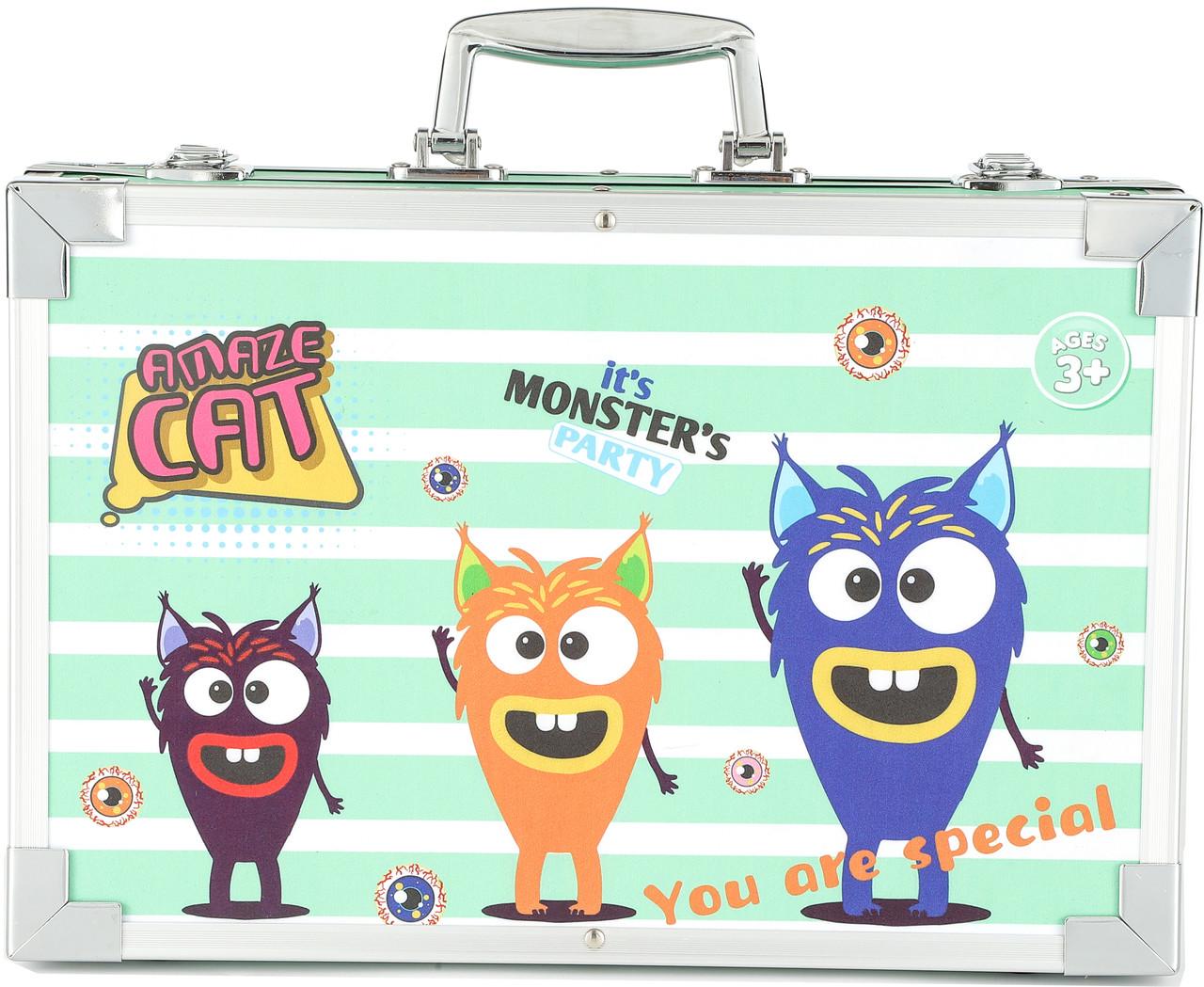 Детский набор для рисования в чемодане Amazecat, модель Green monster