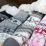 """Шкарпетки теплі з підошвою """"плямки"""" на флісі домашні, фото 2"""