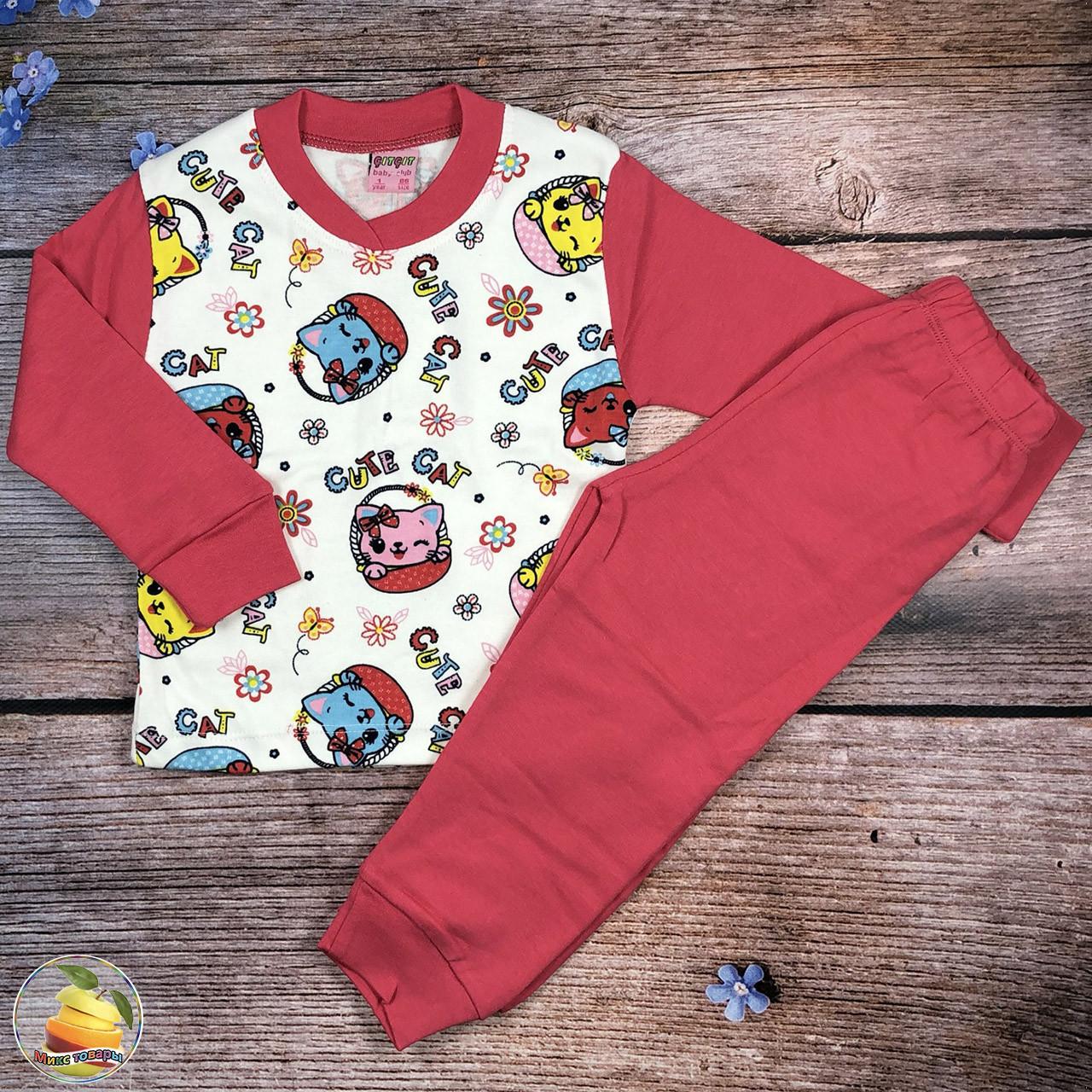 Дитяча піжаму для дівчинки Розміри: 1,2,3,4 року (21095)
