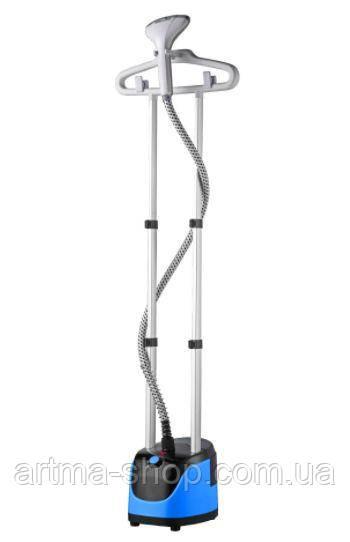 Вертикальный парогенератор HAEGER отпариватель, дезинфекция одежды, 2000 Ватт, Синий