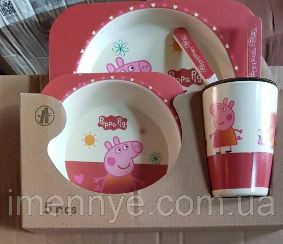 Набор посуды 5в1 Свинка Пеппа