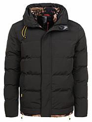 Куртка мужская зимняя черная Glo-Story