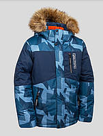Куртка на мальчика Зима на 4-8 лет синяя