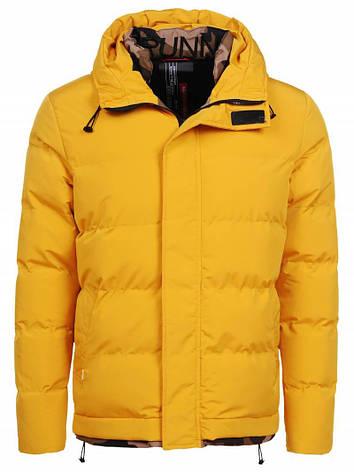 Мужская зимняя куртка желтая Glo-Story, фото 2