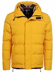 Мужская зимняя куртка желтая Glo-Story