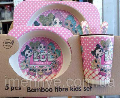 Куклы ЛОЛ бамбуковая посуда